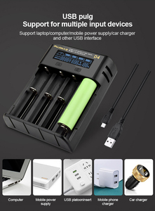 Image 5 - VOXLINK battery charger18650 LCD screen show the fast charging 26650 18350 21700 26700 22650 Li ion Rechargeable Battery charger