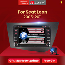 Junsun 2 din Auto DVD Für Seat Leon 2 MK2 2005   2011 Auto Radio Multimedia Video Player Navigation GPS bildschirm Mit Rahmen