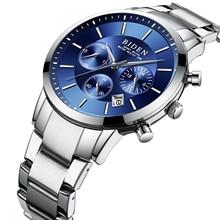 BIDEN Business Mens Blue Watch New Arrival Male Wristwatch Shock Resistant Clock Waterproof Stainless Steel Fashion Reloj Hombre все цены
