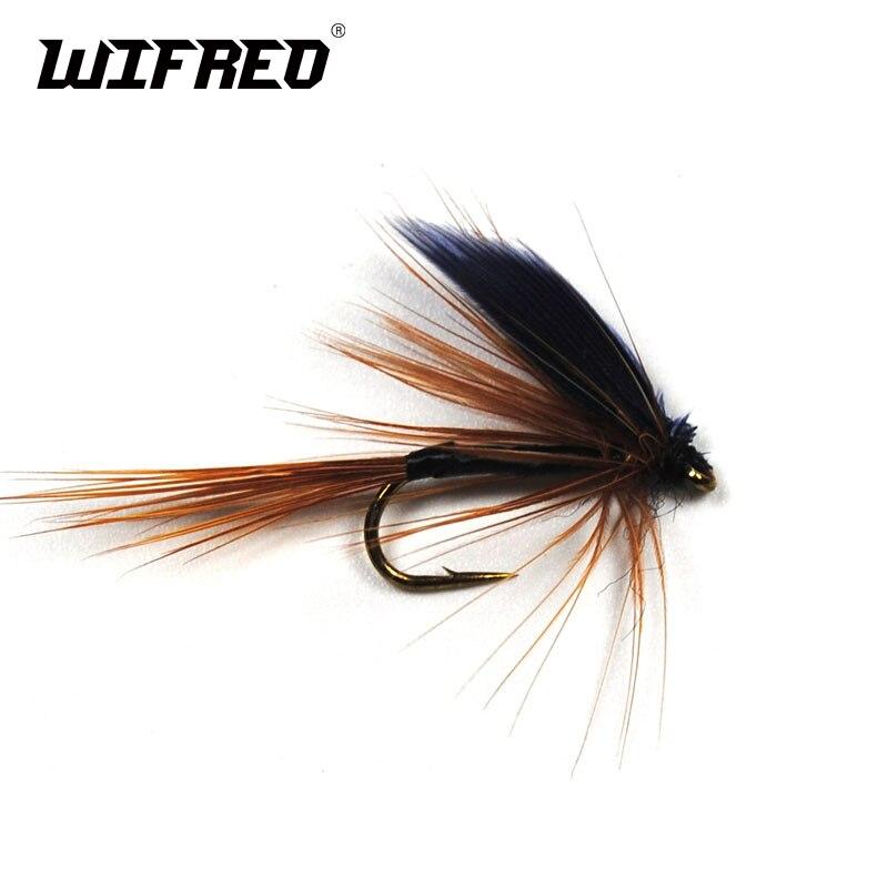 Wifreo 10PCS 10# Fly Fishing Forellen Schwarz Flügel Braun Mayfly