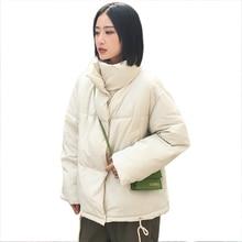 Collare del basamento 2019 Donne di Inverno Cappotto Oversize Femminile di Cotone Imbottito di Spessore Breve casual Outwear Autunno Caldo