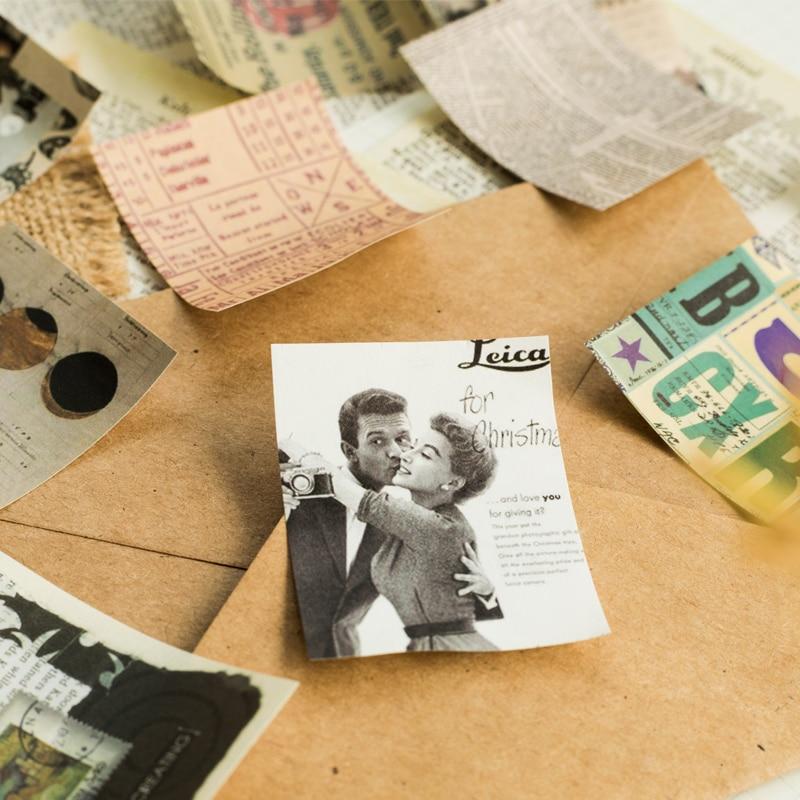 Mr.paper 165pcs/lot Collage Movie Writing Paper Kraft Card Journaling Bullet Scrapbooking Material Paper Retro Words LOMO Cards 4