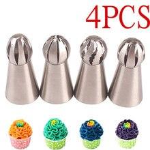 4 pçs tubulação bico esfera bola confeiteiro confeitaria dicas de pastelaria sugarcraft cupcake decorador cozinha bakeware ferramentas