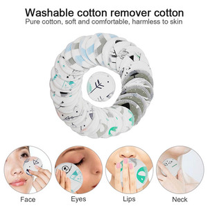 12Pcs Cartoon Reusable Cotton Pad Make up Facial Remover Double layer Wipe Pads Nail Art Cleaning Pads Washable with Laundry Bag(China)