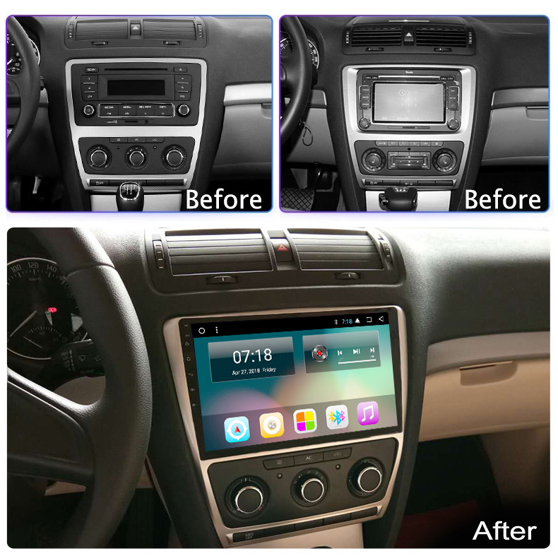 Discount For Skoda Octavia 2 A5 2008 2010 2011 2012 2013 Car Radio Multimedia Video Player Navigation GPS Android 8.1 No 2din 1