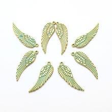 10 шт Подвески Крылья Ангела антикварные изготовления подходят