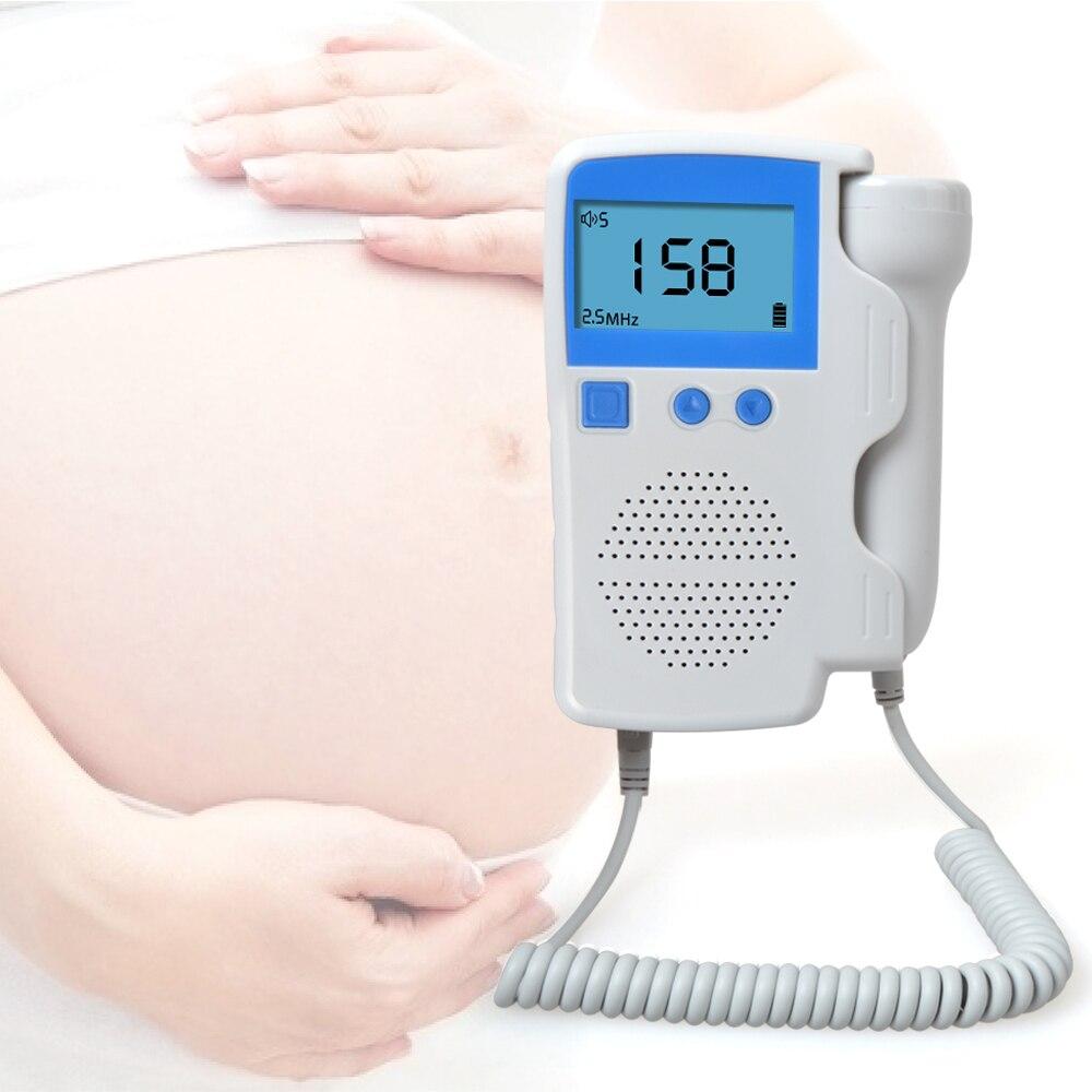 ELERA Fetal Doppler Heartbeat Detector Portable Ultrasound Pregnant Baby Heart Rate Monitor LCD 2.5MHz Pocket Vascular Doppler