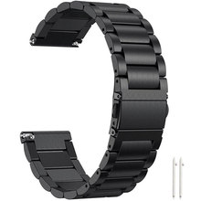18 Mm 22 Mm 20 Mm Universal Watch Band Stainless Steel Tali untuk Samsung Galaxy Menonton Gear S3 Frontier/ klasik S2 Amazift GTR 47 Mm(China)