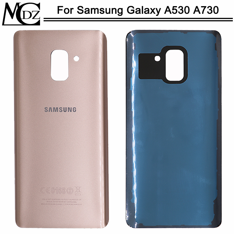 New A530 A730 Battery Cover For Samsung Galaxy A8 2018 A530 / A8 Plus A730 Back Cover Rear Glass Door Panel Housing