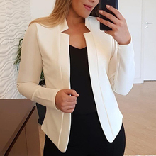 NIBESSER 2019 Autumn New Solid Cardigan Blazers Women Fashion No-Breasted Casual