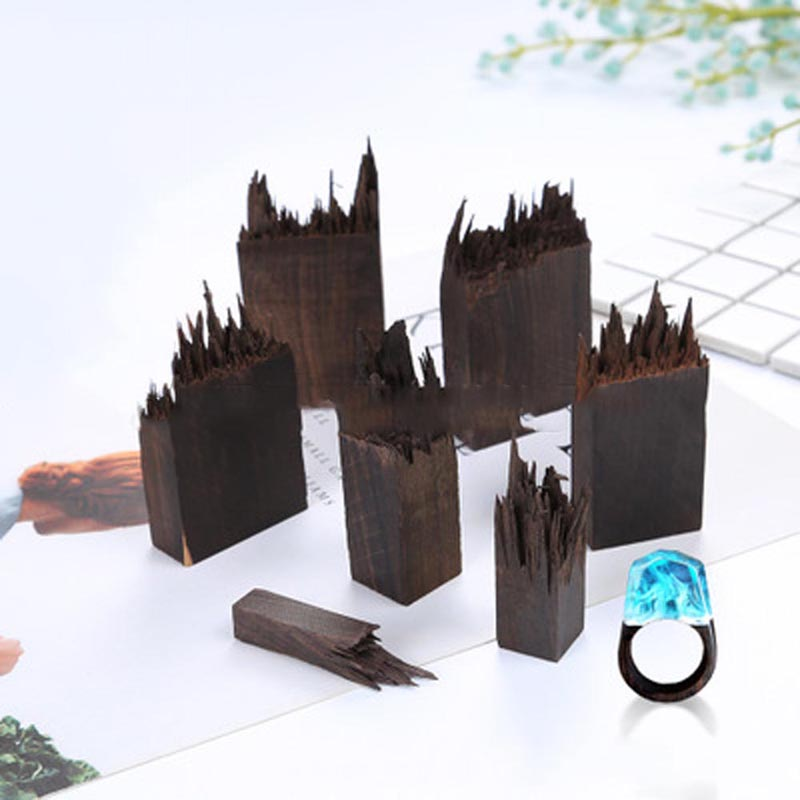 1PC Resina Mold  Dried Flower Resin Craft Blood Sandalwood Ebony Broken Seal Micro Landscape For Jewelry Decoration