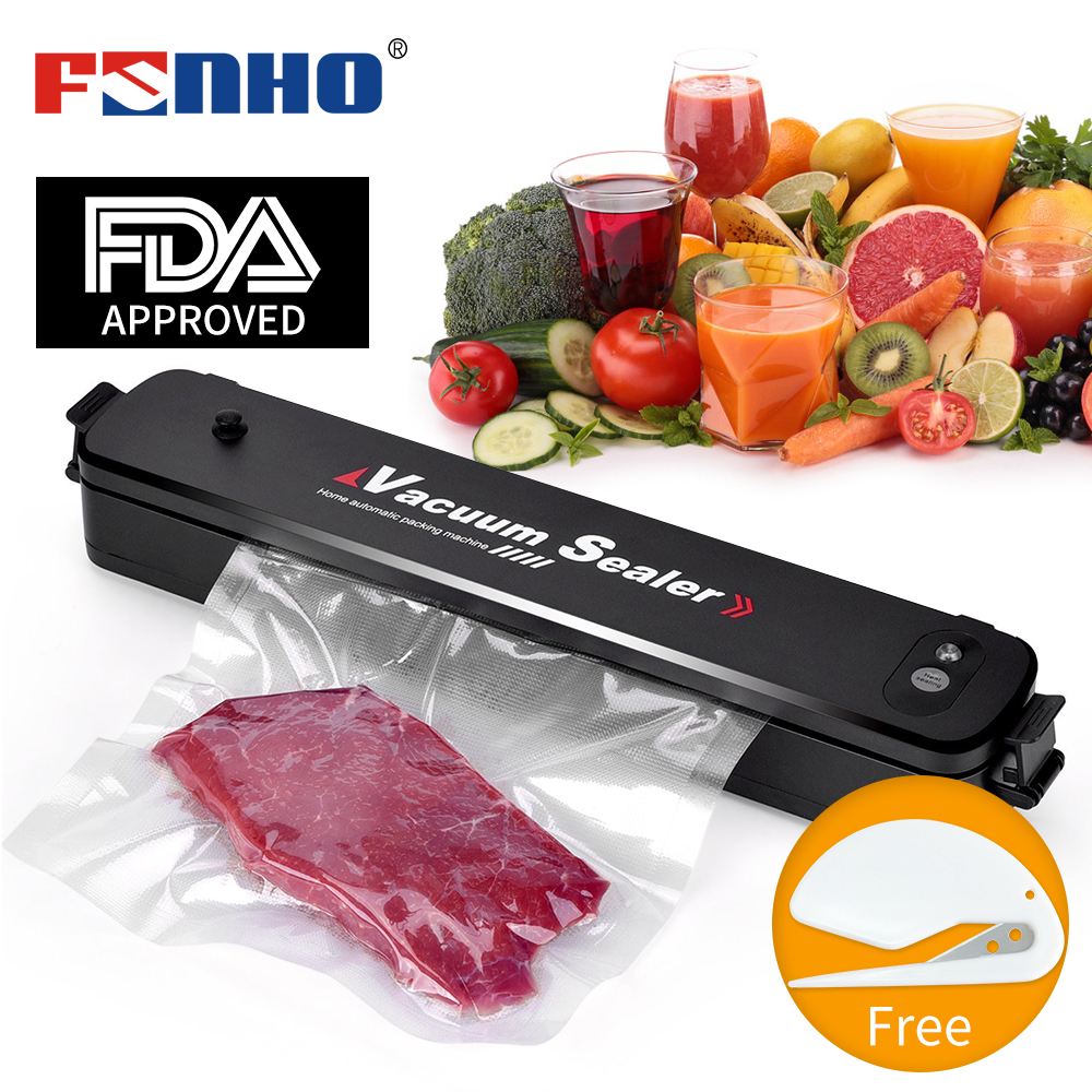 FUNHO Food Vacuum Sealer Machine For Food Saver With 15pcs Bags Home Electric Automatic Vacuum Sealer Packaging Machine