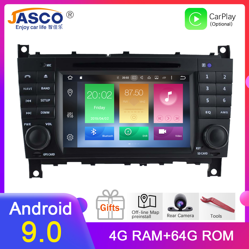 4G RAM <font><b>Android</b></font> 9.0 Car DVD Stereo for <font><b>Mercedes</b></font>/Benz/c-class/<font><b>W203</b></font>/G-Class/W467 Radio <font><b>GPS</b></font> Navigation Video Audio headunit image