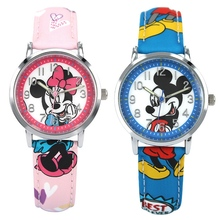 Children's Watches Lovely Mickey Girls Boys Gift Fashion Casual Children Quartz Wristwatches Kids Watch Clock Baby Relogio Hour