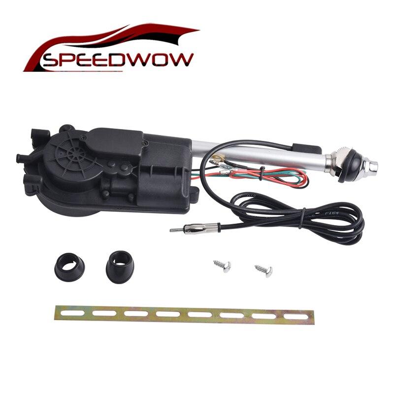 SPEEDWOW voiture électrique antenne Radio automatique Booster puissance antenne Kit voiture Signal antenne électrique 12V extérieur véhicule antennes
