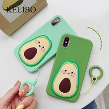 Grappige Avocado Telefoon Case voor IPhone 7 8 6 6s Plus X XR XS Max Fashion Leuke 3d Cartoon gedessineerde Chips Cake Afstandsbediening Cover(China)