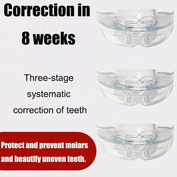 Three Stages Silicone Tooth Invisible Orthodontic Set Dental Appliance Teeth Retainer Mouth Guard Braces Tooth Tray