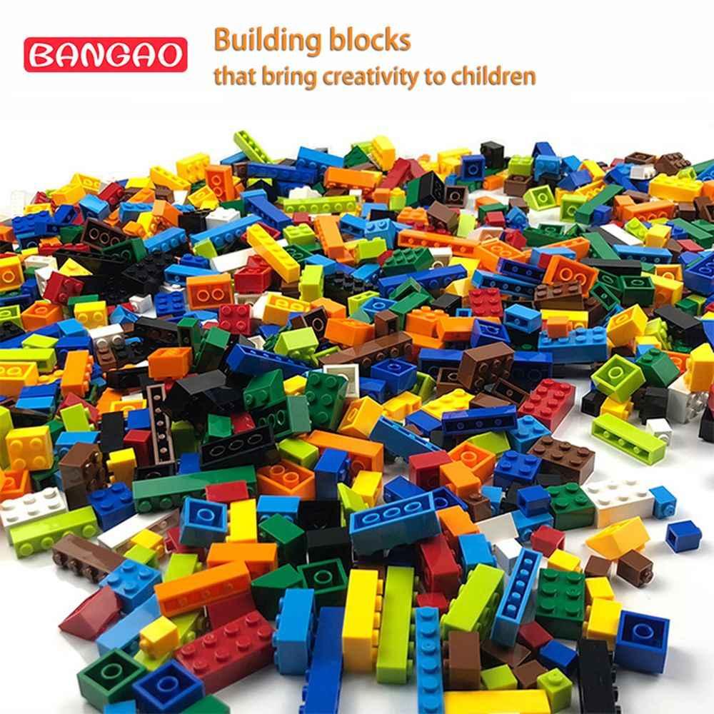Modelo de Montagem de Blocos de construção de Tijolos Figuras Criativas Brinquedos Para Crianças DIY Presente de Natal Atacado