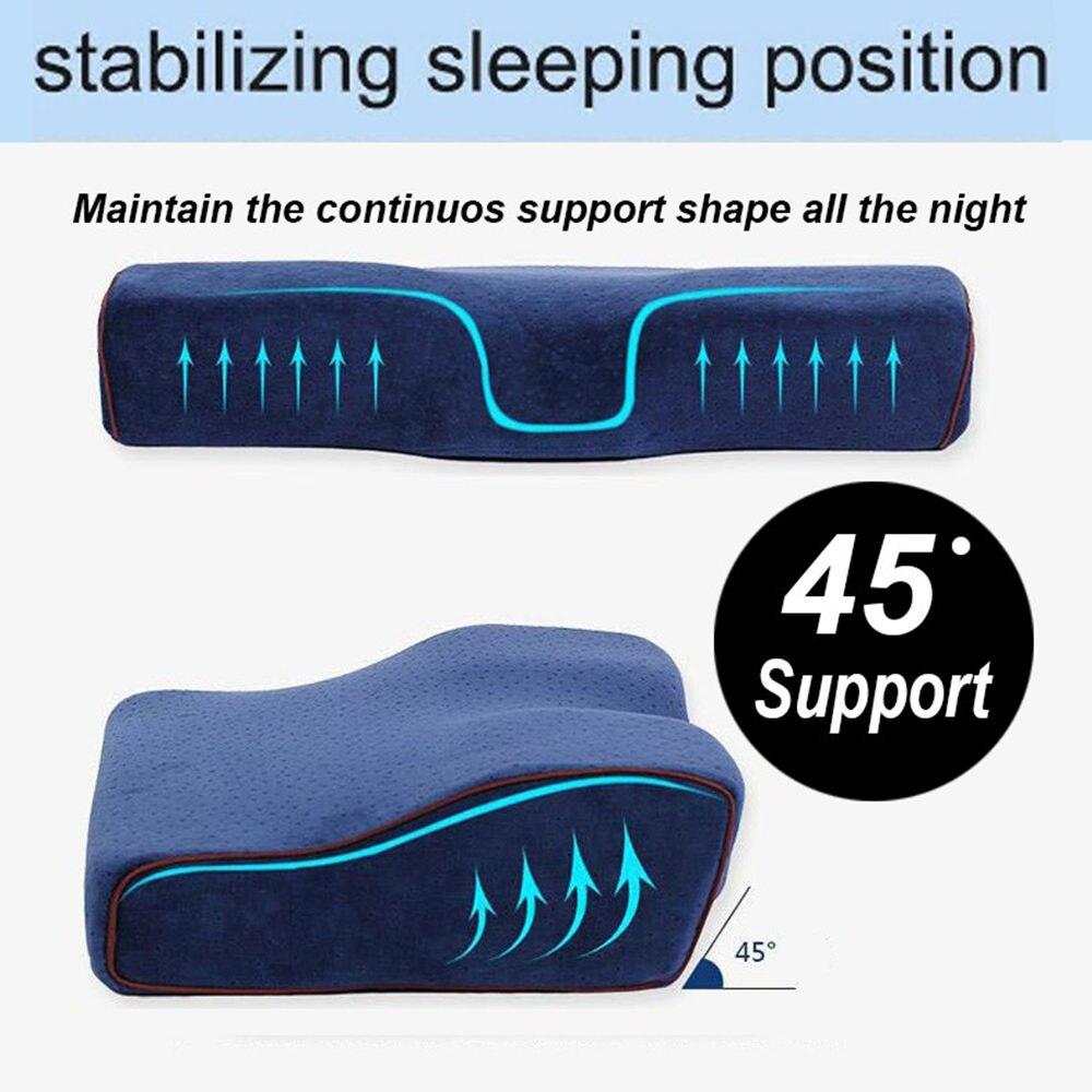 Memory Foam Bedding Pillow Shaped Ergonomic Cervical Pillow Sleeping Comfortable Neck Protection Butterfly Memory Foam Pillow 4