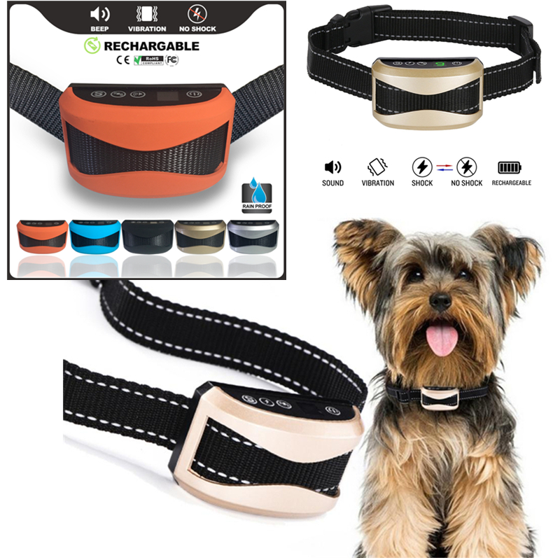 Anti Barking No Bark Collar Rechargeable Waterproof Humane Training NO PAIN