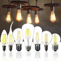 Led-lampe E27 ST64 2W 4W 6W 8W Dimmbare E14 Flamme Lampe C35 Kerze Glühbirne g45 Retro 220V A60 Loft Hause Dekoration Licht