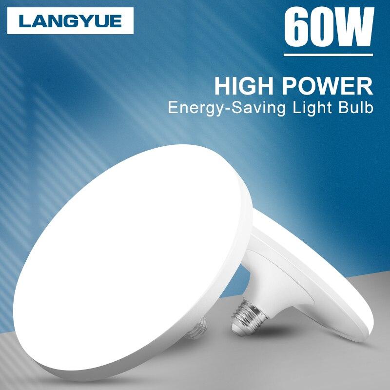 Bombilla Led E27 UFO de 220V, luces Led de alta potencia, 15W, 20W, 30W, 40W, 50W, 60W, Bombilla LED redonda para dormitorio, iluminación del hogar, blanca fría
