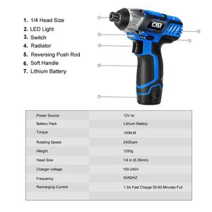 Image 3 - 12V Electric Cordless Screwdriver Drill 100NM Torque Electric Drilling Machine Mini Hand Drill Wireless Power Tool by PROSTORMER