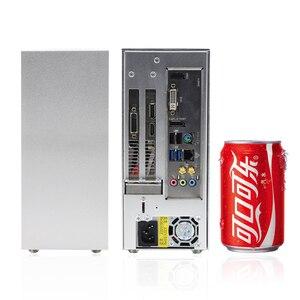 MINI caja de seguridad ITX para jugadores de PC, maleta de aluminio portátil HTPC, carcasa pequeña para ordenador, chasis vacío E