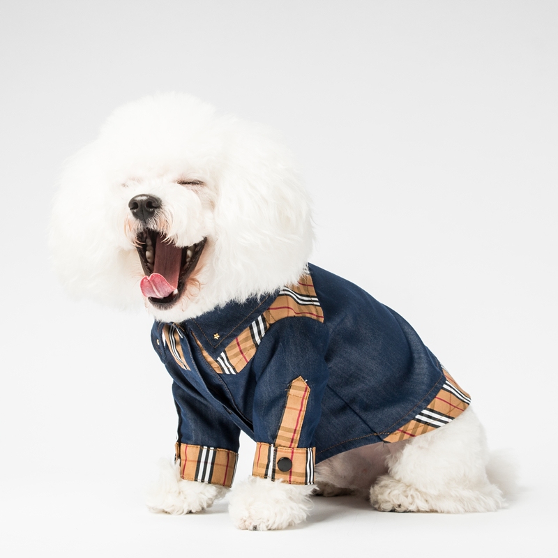 Plaid Dog Shirt Dog Clothes Free Shipping Fashion Luxury Plaid Dog Shirt Denim Small Dog Shirts For Small Dogs