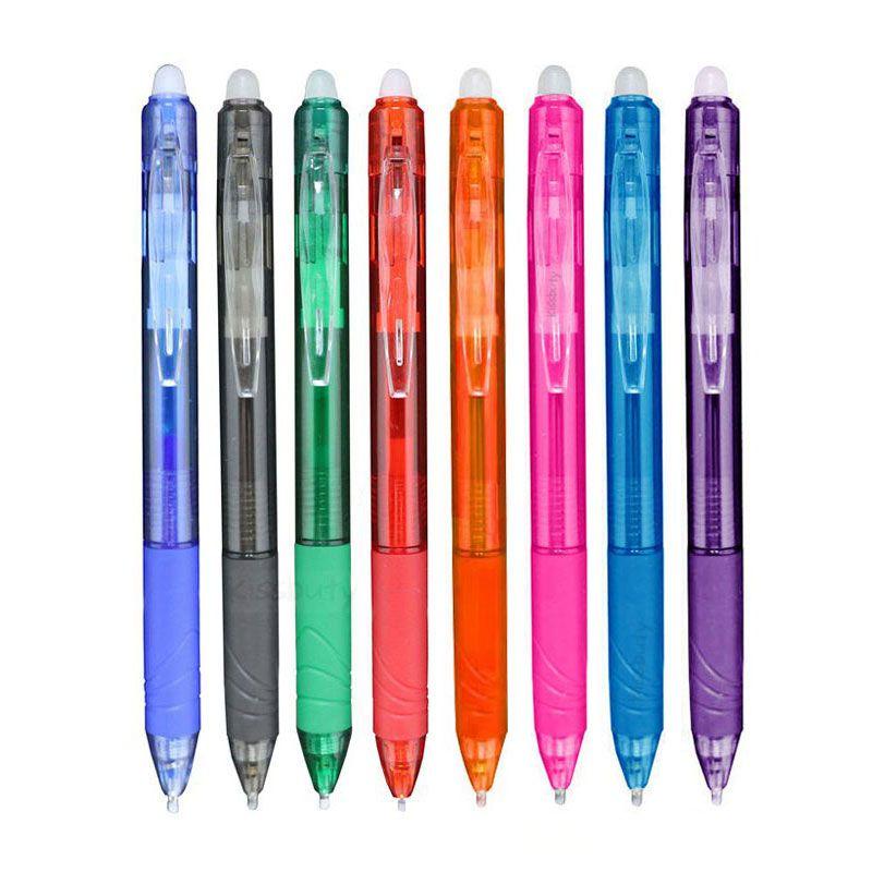 0,7 мм стираемая ручка Пресс набор гелевых ручек 8 цветов стержень со стираемыми чернилами стержень гелевая ручка канцелярских принадлежнос...