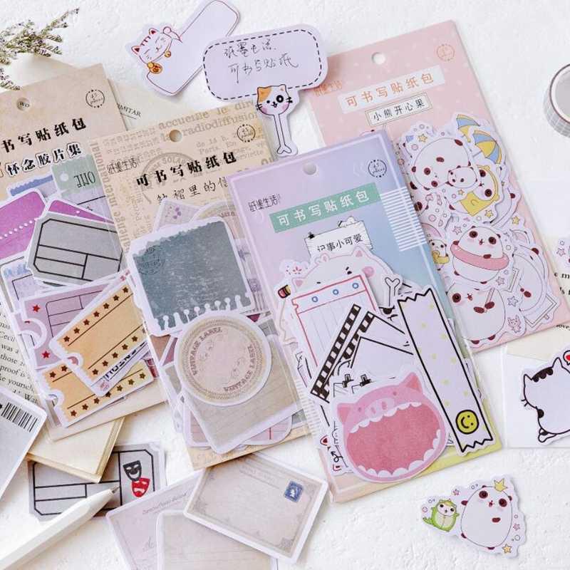 Diario paquetes de papel estacionario japonés personalizado decorativo fotografía pegatina copos Scrapbooking escuela suministro