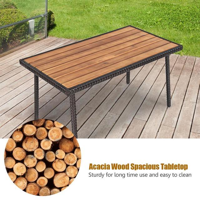4PCS Patio Conversation Furniture Set  5