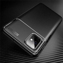 For Samsung Galaxy M51 Case Carbon Fiber Silicone Protective Back Cover For M02 M02S M31 M31S M01 M12 M21S M21 M30S M30 M10 M20