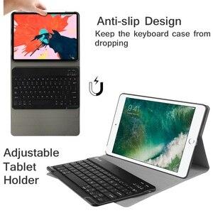 Image 3 - Coque magnétique amovible 9.7 pouces pour iPad Air 2 avec clavier A1474 A1566, étui amovible pour iPad Air 1 2 russe espagnol