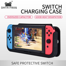 DATA FROG Power Bank 10000mAh Charger Case For Nintend Switch Console Leather Case Holder Stand Cover For Nintendo Switch NS все цены