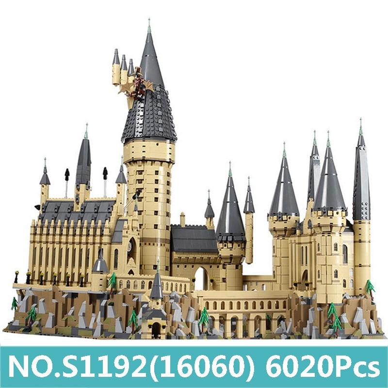 16060 Hogwarts Castle Building Blocks Movie Architecture Harri Magic Potter City Street Creator House 71043 Bricks