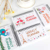 A6 Weekly Planner 2019 2020 Agenda Diary Monthly Notebook School Supplies Office Portable Animal Organizer Schedule Stationary