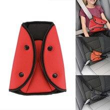 Araba güvenli emniyet kemeri ayarlayıcı araç emniyet kemeri ayarlamak cihazı üçgen bebek çocuk koruma bebek emniyet koruyucu araba aksesuarları