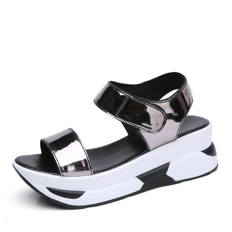 E TOY WORD Summer Womens Sandals Wedge High Heels Shoes Female Hook amp loop Comfortable Platform Sandals Leisure Women Sandals in Women 39 s Sandals from Shoes