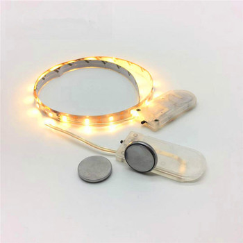Button Battery 5V White Yellow LED Tape Christmas Window Dressing Table Boot Lamp Belt Little Night Lights for Home Decoration image