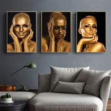 Figure Art Cuadros Gold Nude Woman Oil Painting on Canvas Wall Art Posters and Prints Wall Pictures for Living Room Home Decor picasso classic colorful wall art canvas posters prints painting oil wall pictures for office living room home decor artwork hd