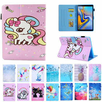 Cat Unicorn Cover For iPad 234, Lucury PU Leather Smart Stand Shell Tablet Case For ipad 4 2 3,9.7 inch with Auto Wake Up/Sleep for ipad 2 ipad 3 ipad 4 case pu leather tablet cover full protection 9 7 inch drop resistance dog pattern shell
