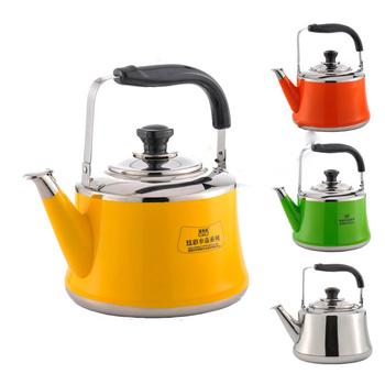Czajnik ze stali nierdzewnej kolor czajnik bardzo gruba stal nierdzewna 304 gaz gazowy 3-7L czajnik czajnik elektryczny czajnik z gwizdkiem tanie i dobre opinie CN (pochodzenie) STAINLESS STEEL Ekologiczne CE UE a785a