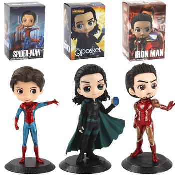 16cm Q Posket Avengers rysunek zabawki Loki Iron Man Tony Stark Spiderman Endgame Heroes Model kolekcjonerski lalki tanie i dobre opinie Disney CN (pochodzenie) Unisex No Fire PIERWSZA EDYCJA STARSZE DZIECI 12-15 lat 5-7 lat 2-4 lata 8-11 lat Wyroby gotowe
