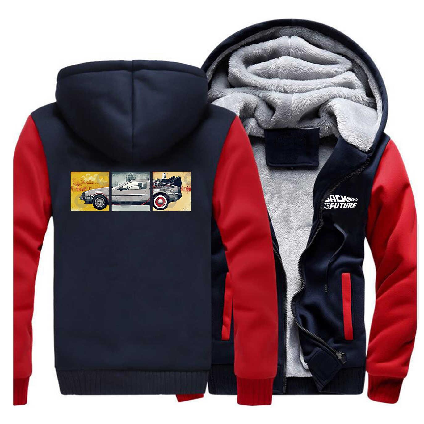 Terug Naar De Toekomst Jas Winter De Auto Mannen Dikke Warme Fleece Jas 2020 Mannelijke Dikker Jassen Sportkleding Streetweat Hoodie jassen
