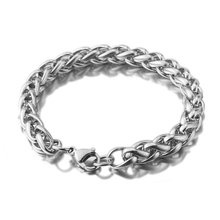 Stainless Steel Knit Keel Wheat Bracelet 3 4 5 6 8mm Diy Jewelry Bangle Hip Hop Gift High Quality Do Not Fade Charm Bracelet(China)