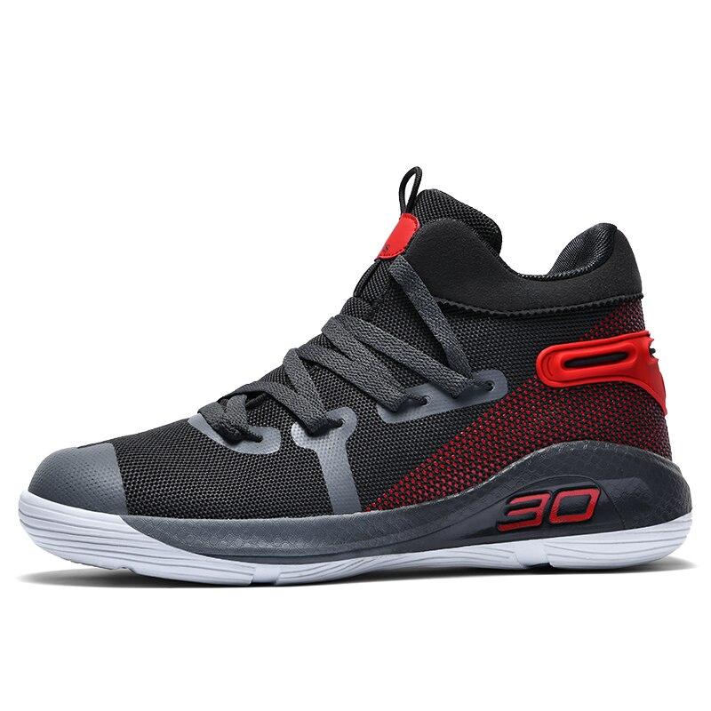 Image 3 - JUNSRM バスケットボールスニーカー男性ブランドカジュアルカップルの靴 Zapatos デやつ男性の保護足首ジョギング非スリップトレーナー男性メンズカジュアルシューズ   -