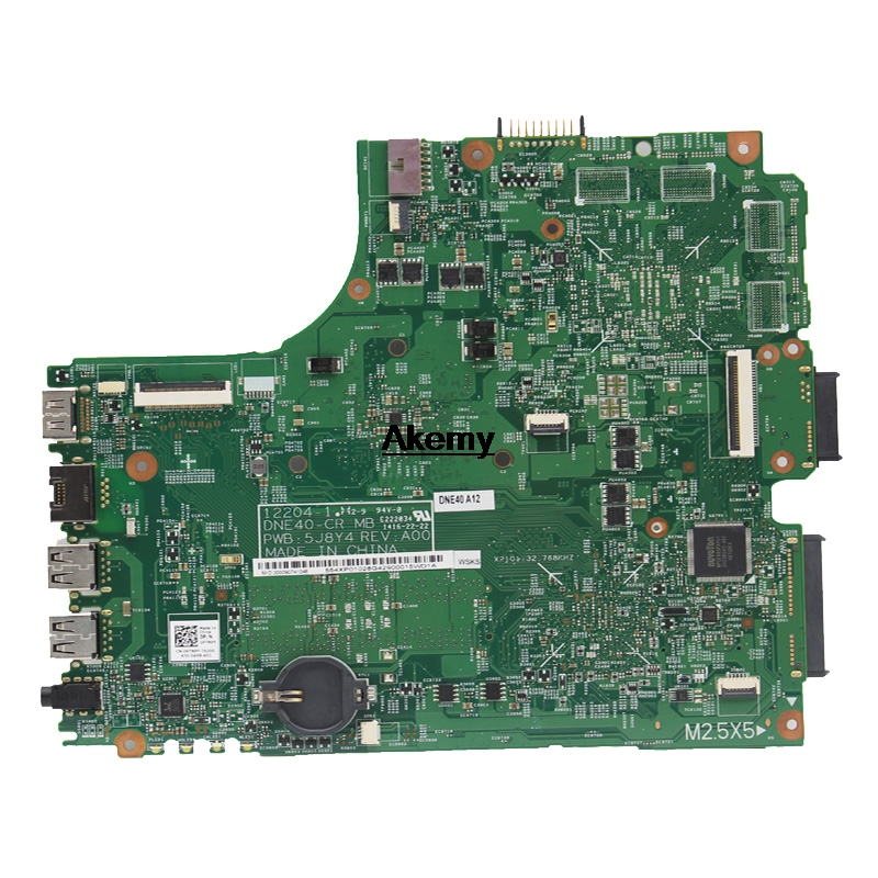 12204-1 For DELL INSPIRON 2421 3421 5421 laptop motherboard CN-07GDDC I3-2375M 12204-1 DNE40-CR orginal Teste motherboard 3