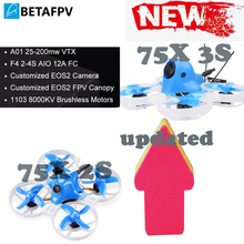 Beta75X 2S/3S Brushless Whoop Drone with 2-4S F4 AIO EOS2 Camera OSD Smart Audio 8000KV 1103 Motor XT30 Cable for Tiny