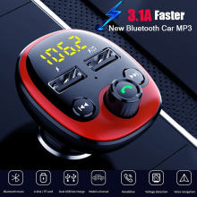 3,1 EIN Auto Mp3 Player Bluetooth 5,0 FM Transmitter Wireless Dual USB Smart Quick Charge Mit LCD A2DP Funktion SD/TF Speicher Karte(China)